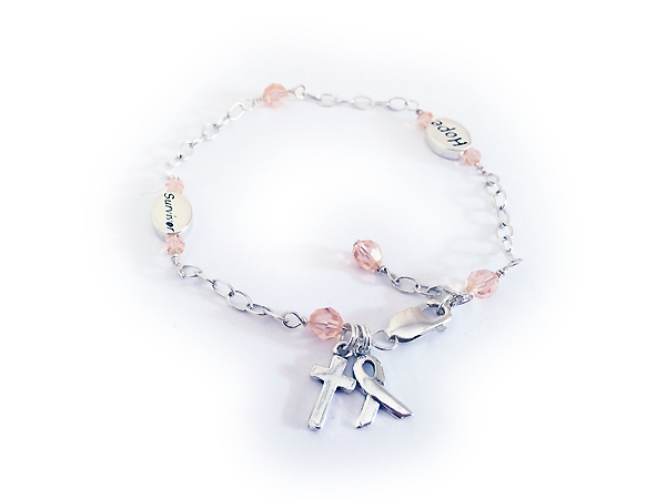 Ovarian Peach Courage Anklet