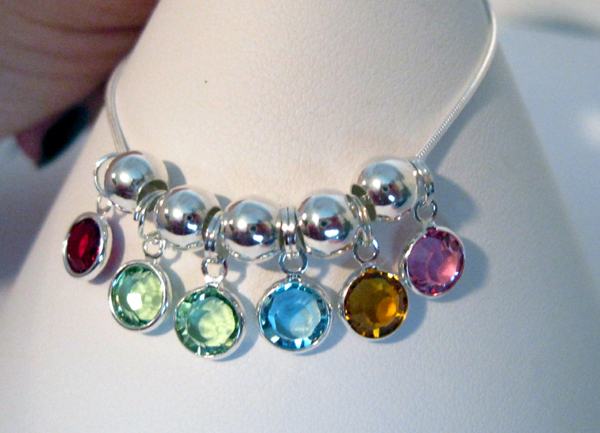 Birthstone necklace link