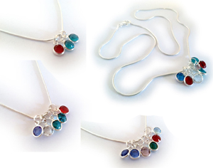 Birthstone necklace no spacers