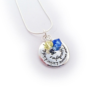 Down syndrome awareness pendant