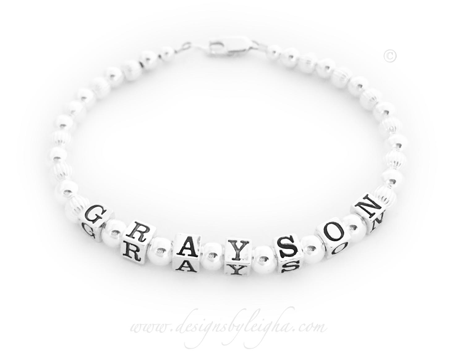 Grayson bracelet shown with one of my free lobster clasps.