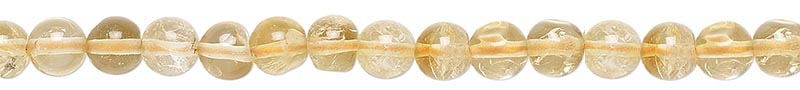 Citrine 4mm and 5mm Round Beads - Money - Sucess - Manifestation - Creativity - Self-Control