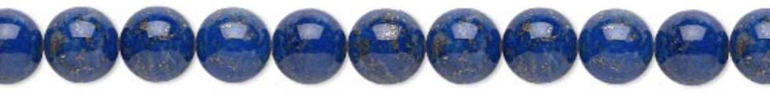 8mm Lapis Lazuli meaning - Enlightenment - Physic Abilities - Power - Serenity - Reverse Curses - Chakras - Opens Third Eye & Balances Throat
