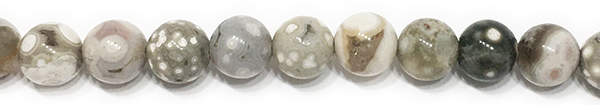 8mm Round Ocean Jasper Tranquility - Wholeness - Cleanses - Aligns - Balances