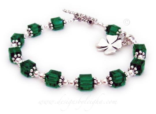 DBL-Shamrock-1   This Lucky Shamrock Charm Bracelet is shown with a Twisted Toggle.