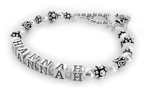 1 Name Bracelet with crystals