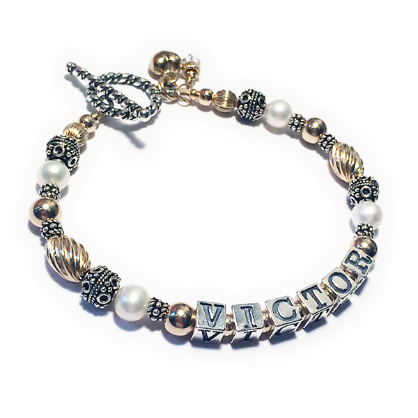 Victor Gold Pearl Mothers Bracelet - DBL-PS1-Gold