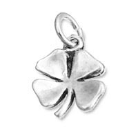 Shamrock Charm is sterling silver and approximately 18mm x 12mm