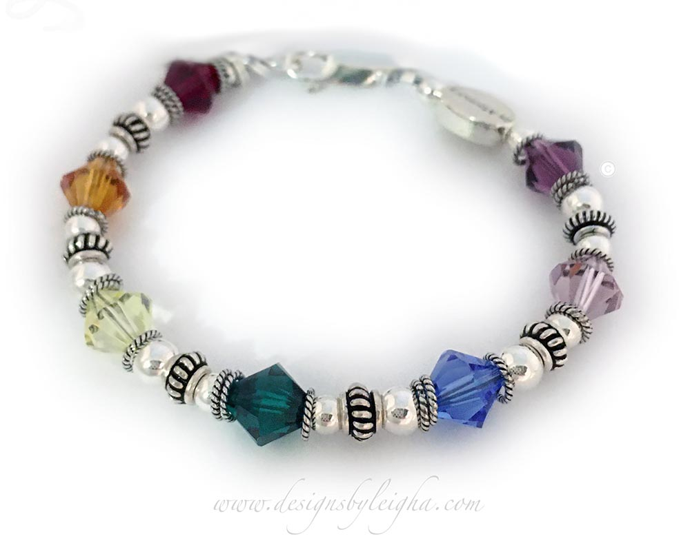 Rainbow Bridge Bracelet™ with 8mm Swarovski Crystals #1