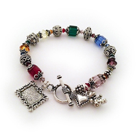Bright and Colorful Bali Bracelet