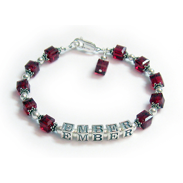 Square Birthstone Bracelet for Mommy or Grandmommy DBL-C2