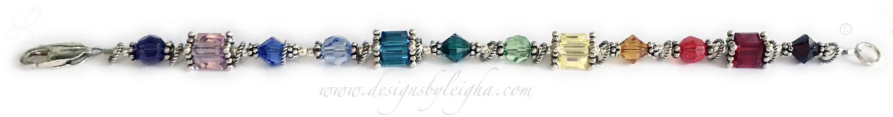 12 Stone Birthstone Bracelet by Leigha - This is Leigha's favorite Design!!! - DBL-BB12
