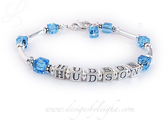 Hudson Birthstone bracelet with December Birthstone crystalsJBL-SS6