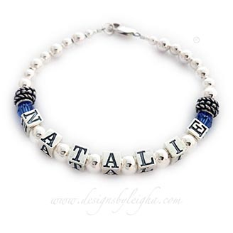 DBL-SS2-1	String Bracelet Natalie has September or Sapphire birthstones. This is a 1-string bracelet with a lobster claw class.
