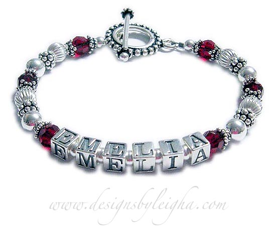 July Birthstone Crystal bracelet for mommys