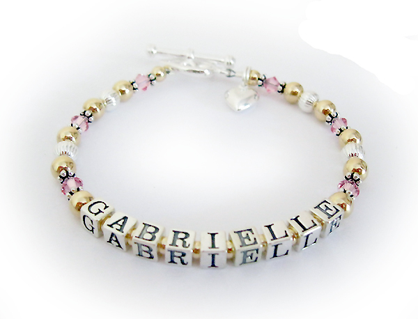 Sweet 16 Bracelet for a 16 year old named Gabrielle with a heart charm