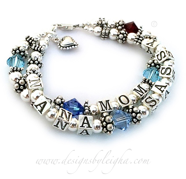 Birthstone Bracelet for a MOM and NANA