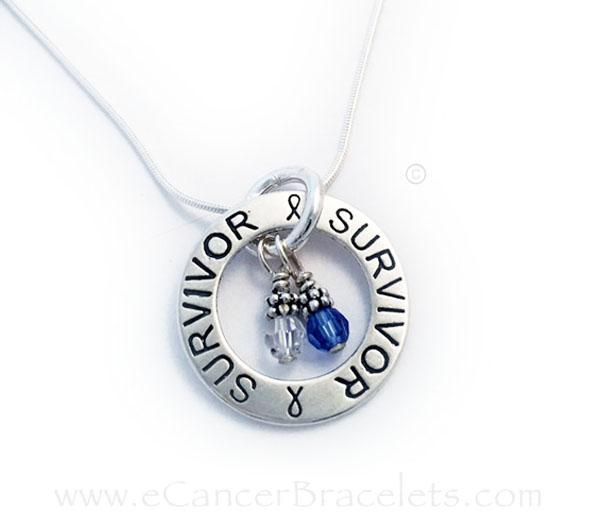 Colon Cancer Blue Ribbon Bracelets Necklaces Earrings
