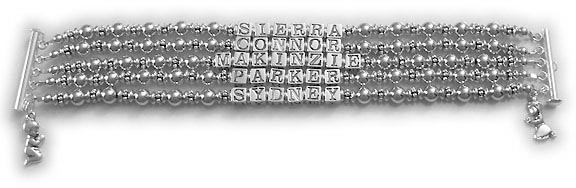 5 Name Bracelet with 5 Kids Names