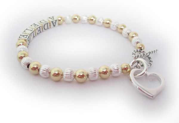 Adele Mother Bracelet with Heart Charm