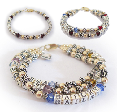 Lorenzo and Stephen Gold and Bali Mother Bracelet