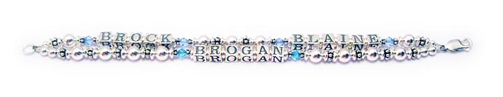 Blaine Brock Brogan multi Name Bracelet