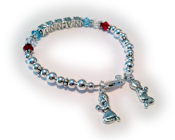 Nanny Bracelet with Praying Kids Charms