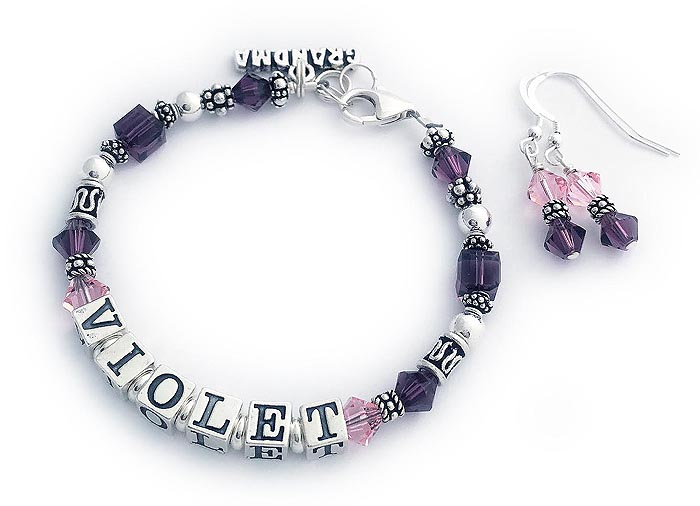 Violet Birthostne Mother Bracelet for Grandma