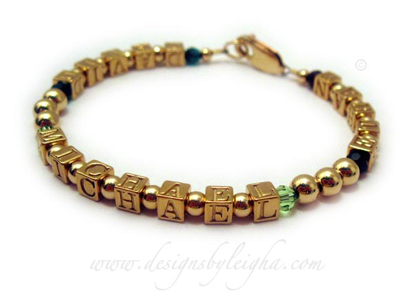 David Michael Ethan Mothers Bracelet