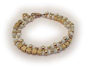 GOLD Cat's Eye Mothers Bracelet with ALICE