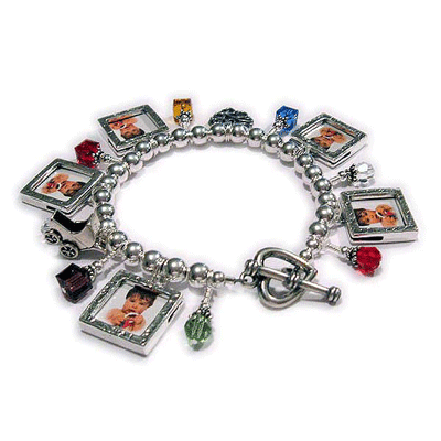 Picture Frame and Birthstone Charm Bracelet