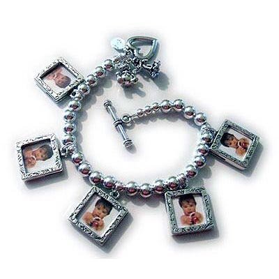 Picture Frame Charm Bracelet for Mom and Grandma