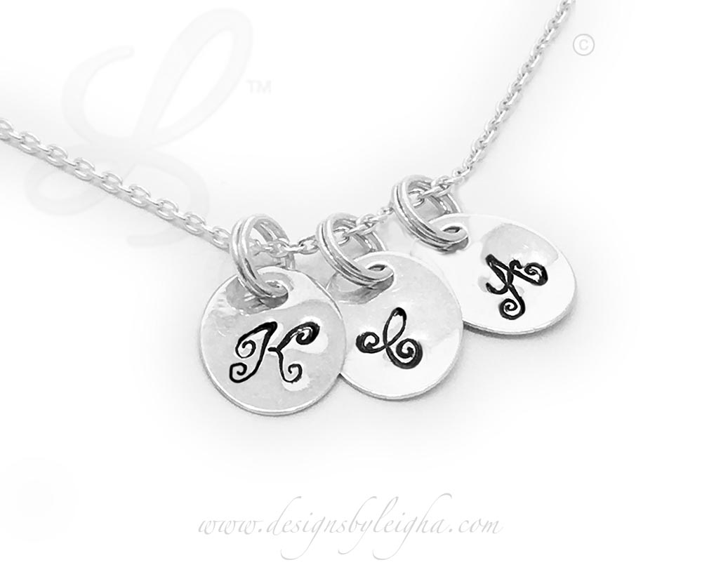 Oval Initial Charm Necklace (sterling silver)