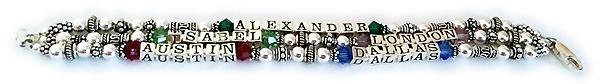 5 name birthstone bracelet
