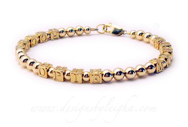 Gold Mothers Bracelet with Rocko, Opie and Mosey