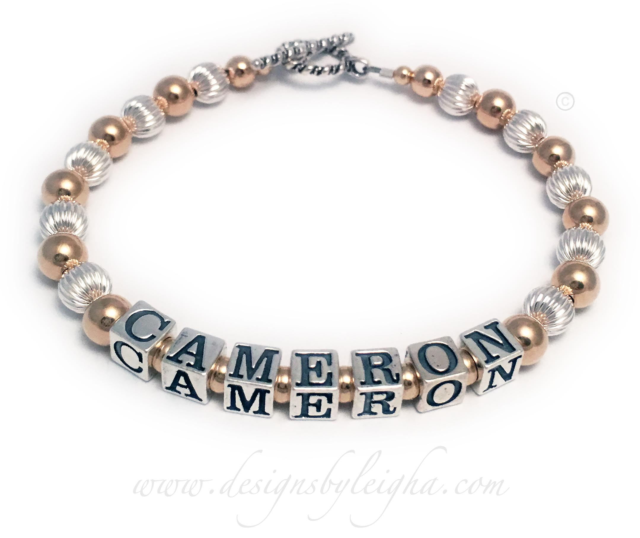 Gold Mother Bracelet with Cameron and no birthstone crystals.