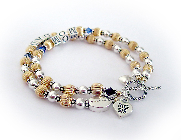 DBL-G4 - 2 string mom and dad bracelet