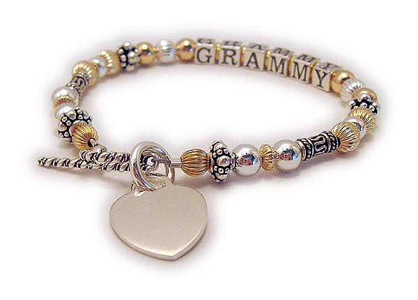 Grammy Bracelet with Engravable Charm