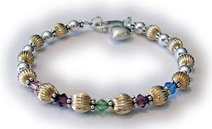 grandma bracelet with birthstone crystals