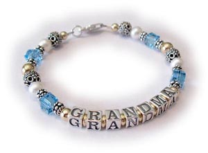 Grandma Bracelet or Mother Bracelet with Birthstone Crystals