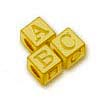 gold alphabet block letters
