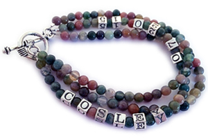 Fancy Jasper Cosley 3 string bracelet