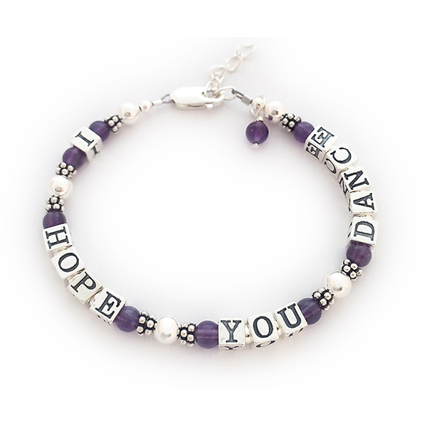 I hope you dance gemstone Bracelet for Teens - DBL-Message-13