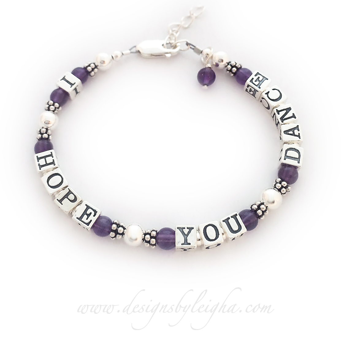 Amethyst I HOPE YOU DANCE Bracelet with an extension clasp