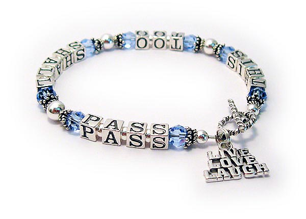This Too Shall Pass Bracelet - with December Crystals