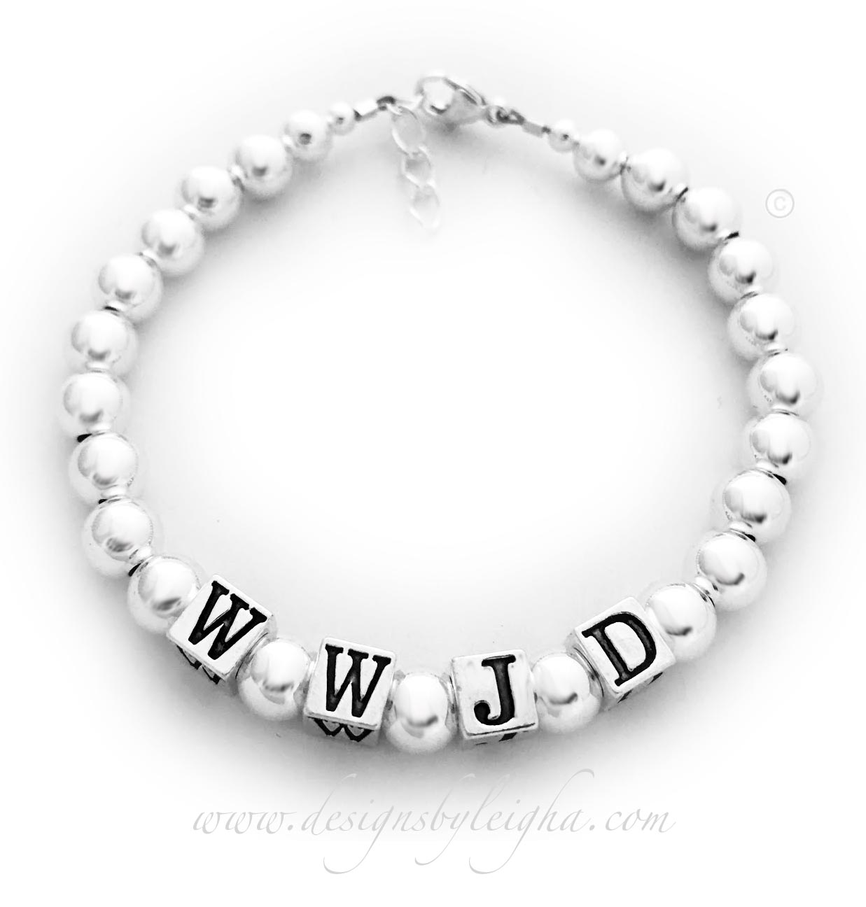 DBL-WWJD-9  What Would Jesus Do Bracelet - All Sterling Silver  #wwjd #wwjdbracelet #whatwouldjesusdo #whatwouldjesusdobracelet