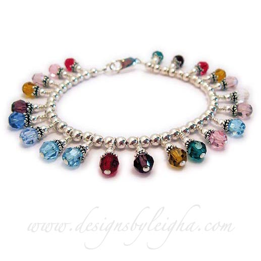 22 Birthstone Charm Bracelet    You will need to call to place an order for 10 or more birthstones because of the limitations of ordering with my ordering software - I look forward to your call =)