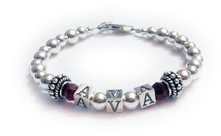 Ava Bracelet with January Birthstone Crystals