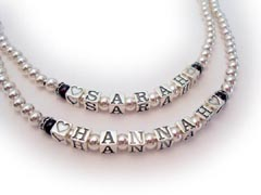 Fully Beaded Name Necklaces