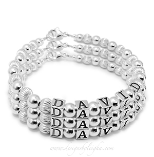3-string name bracelet DBL-SS1-3string